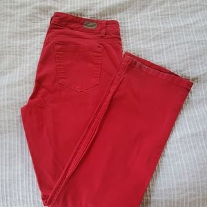 Bandolino Red straight fit jeans size 10